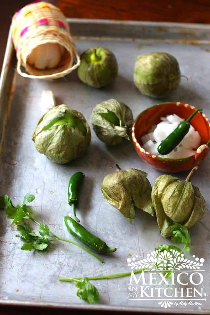 salsa verde ingredients | Mexican Food recipe