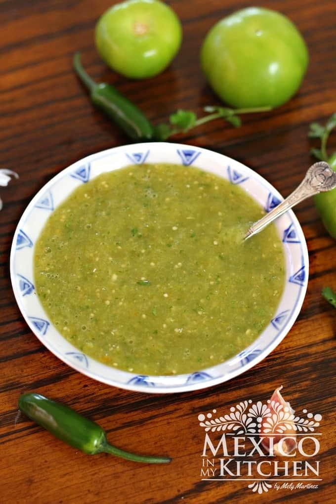Salsa verde recipe | Mexican Food Recipes