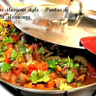 Bistec a la Mexicana /Beef Tips Mexican Style