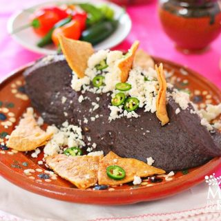 Authentic Mexican refried black beans