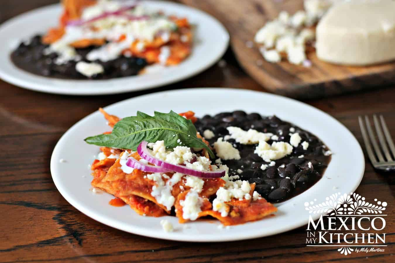 Mexican Chilaquiles recipe, red chilaquiles or chilaquiles rojos.