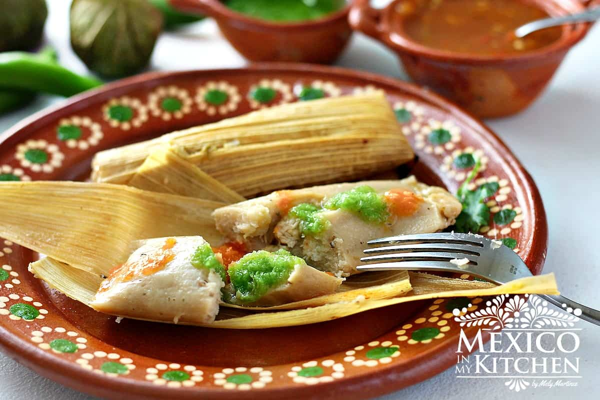 Chicken tamales in salsa verde  Mexican recipes