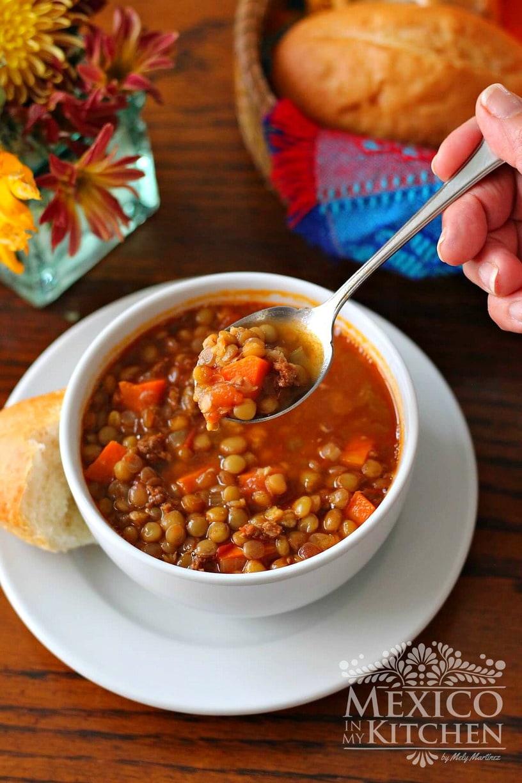 Chorizo Lentil Soup Recipe