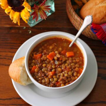 Lentil Soup with chorizo