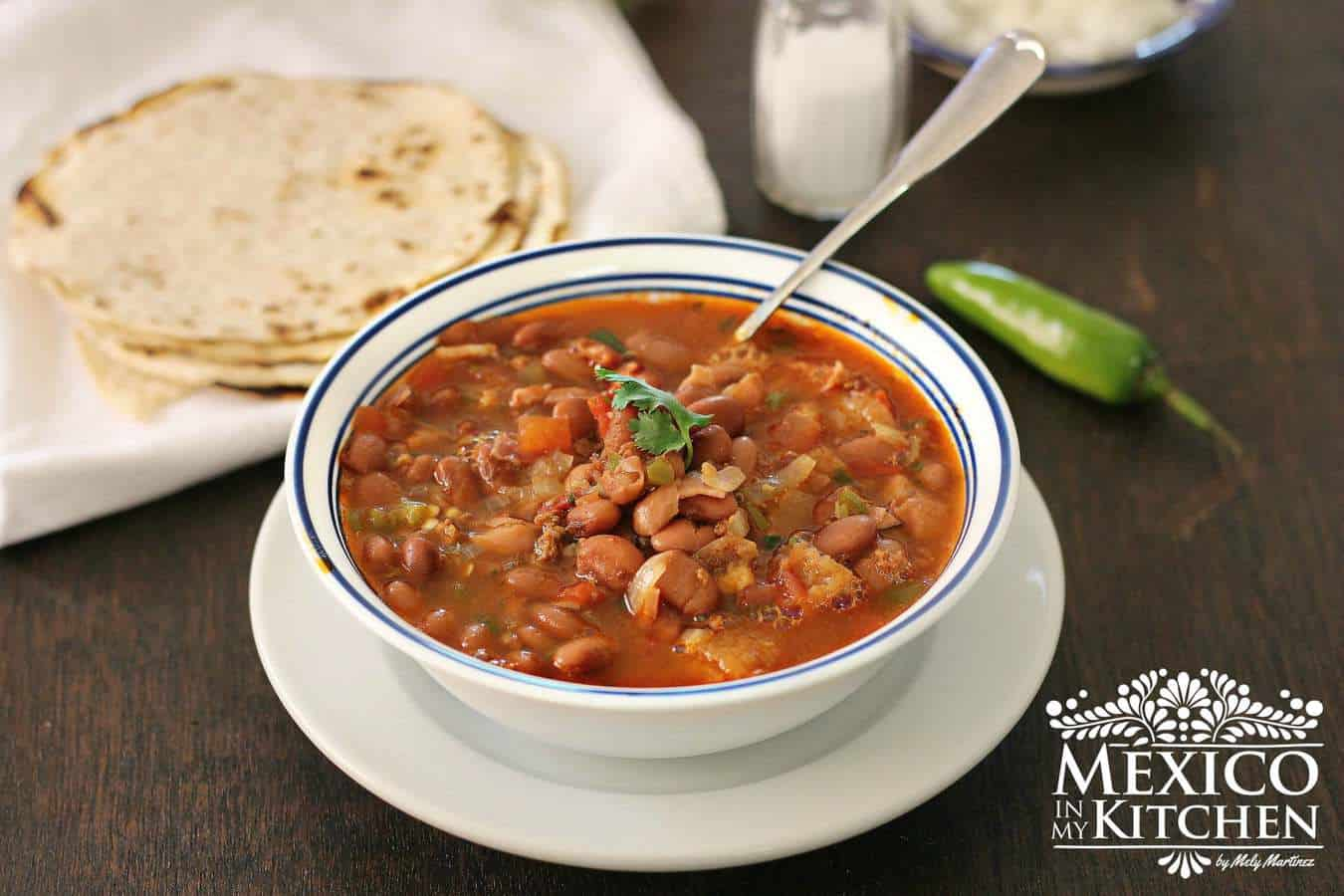 Charro beans cowboy beans recipe | Mexican Recipes