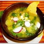 Green Pozole Soup Guerrero Style