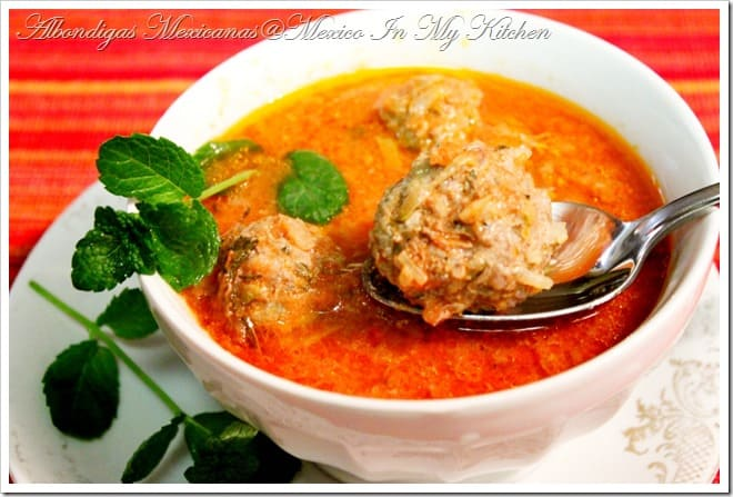 Albondigas Soup Mexican In My Kitchen