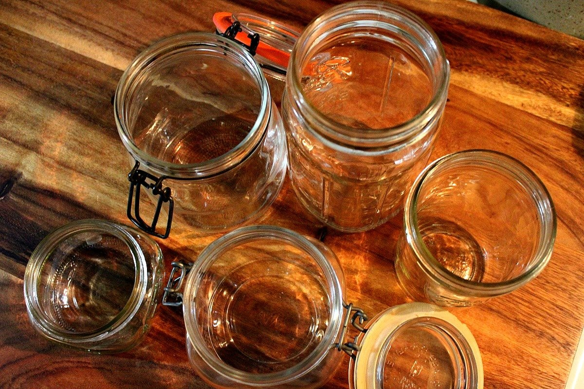 pickling glass jars