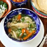 Caldo de pollo chicken soup mexicanr recipe