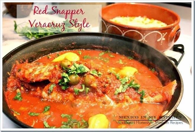 Veracruz style red snapper huachinango a la veracruzana for Fish veracruz recipe