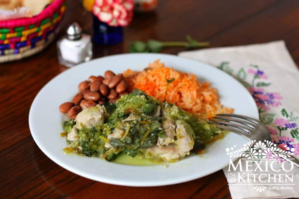 Pork with purslane recipe