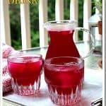 Prickly Pear Drink / Agua de Tuna