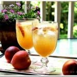 White Moscato And Peach Sangria