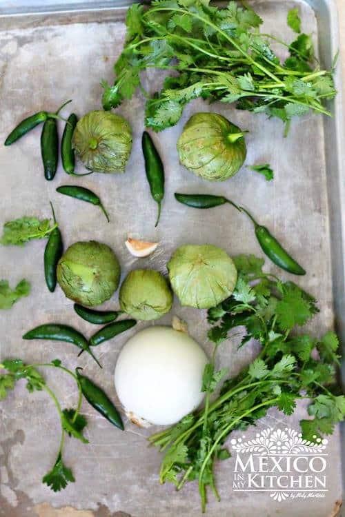 ingredients needed to make fresh salsa cruda