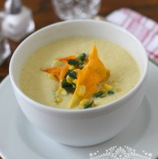 Creamy corn soup - 1