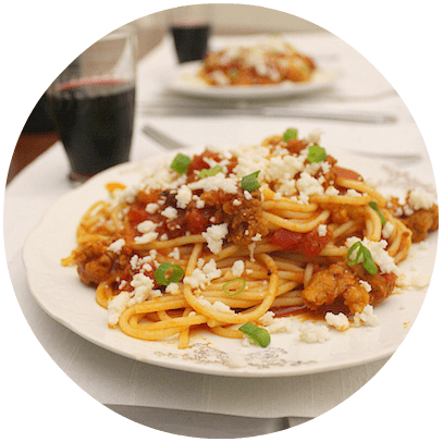 Pasta with Chorizo and Tomato Sauce | Mexican Recipes