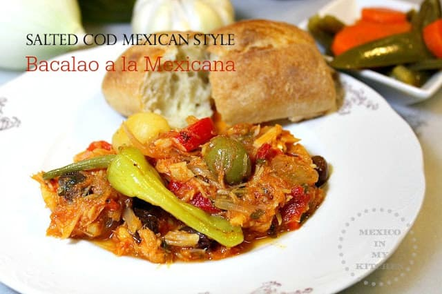 Salted Cod Mexican Style Recipe, Mexican Christmas Dishes