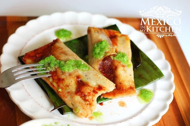 Pork Tamales Wrapped in Banana Leaves, Mexican Christmas Dishes