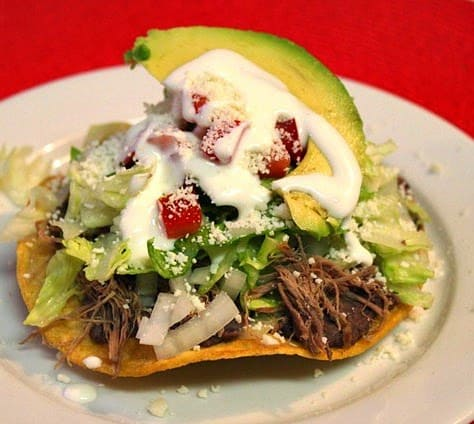 Shredded Beef Tostadas | Mexican Game Day Recipes