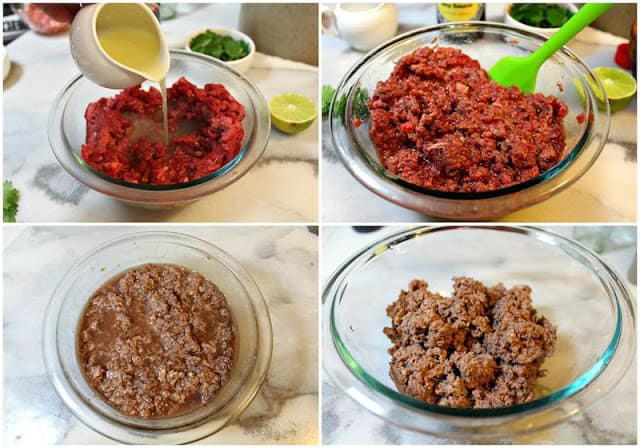 Mexican Steak Tartare | Instrucciones step by step