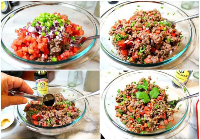 Mexican Steak Tartare | Instrucciones step by step, quick and easy recipe