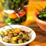 Pickled Bird Peppers-Chile de Monte En Vinagre