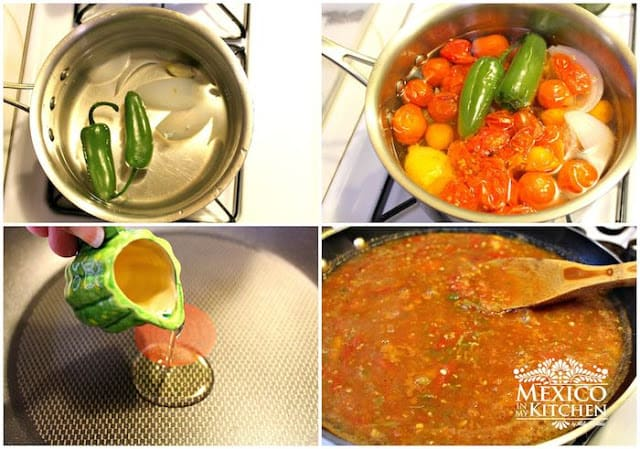 Cherry Tomato Salsa Spicy | step by step instructions with photos of the process.