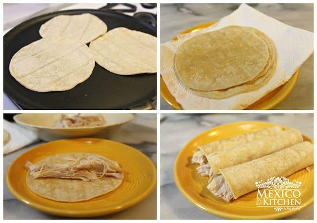 Recetas Enchiladas de Poblano Peppers | Instrucciones paso a paso, rápido y fácil