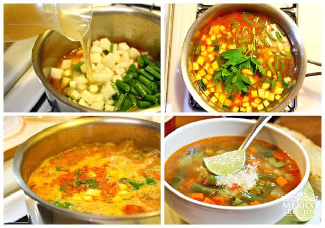 Mexican Vegetable Soup Recipe | Instructions step by step, Quick and Easy recipe
