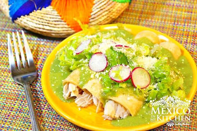 Receta Enchiladas De Pimientos Poblanos | Recetas mexicanas