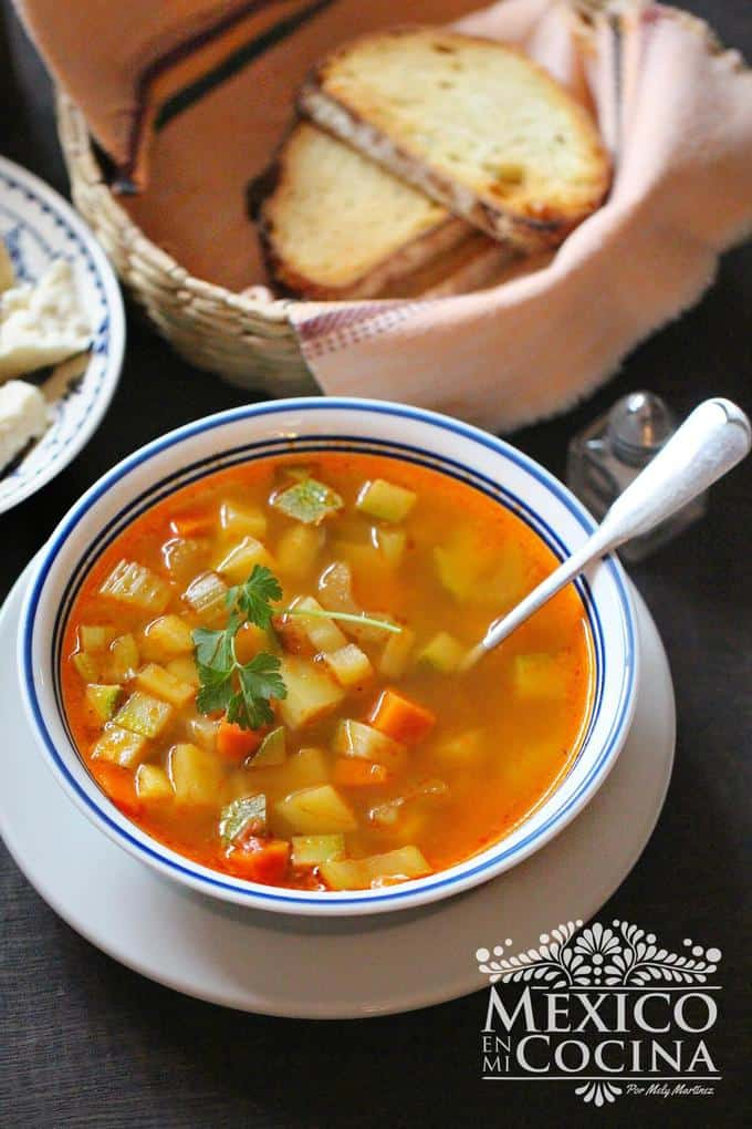 easy vegetable soup recipe - 2 Mexican recipes