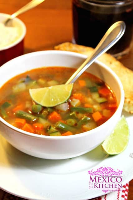 Mexican Vegetable Soup Recipe | enjoy this traditional recipe with a step by step photo tutorial.