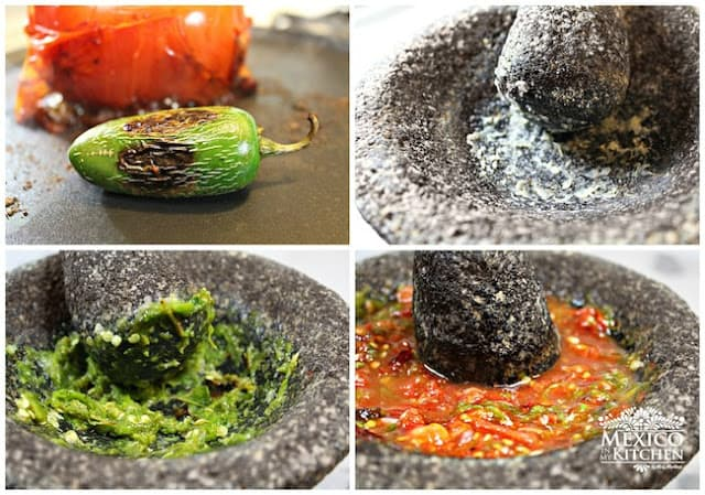 Red Salsa en Molcajete | quick and easy