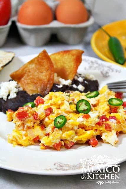 Huevos A La Mexicana Mexican Scrambled Eggs