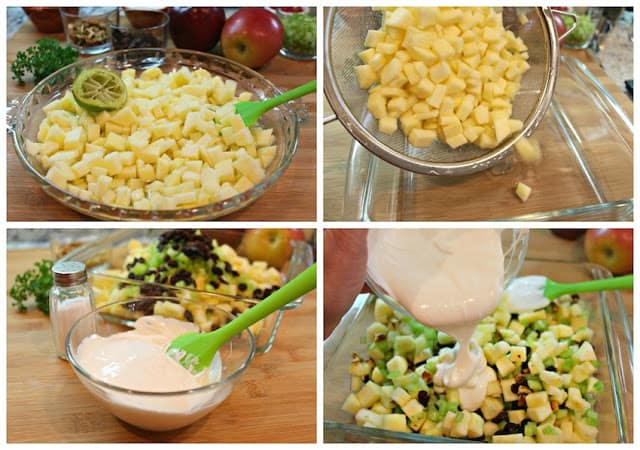 Mexican Christmas Apple Salad