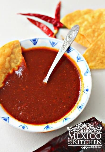 Red Taquería Style Salsa   Mexican Recipes