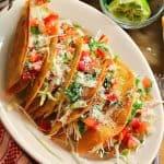 Crispy Potato Tacos with Pico de Gallo Salsa- Tacos Dorados de Papa