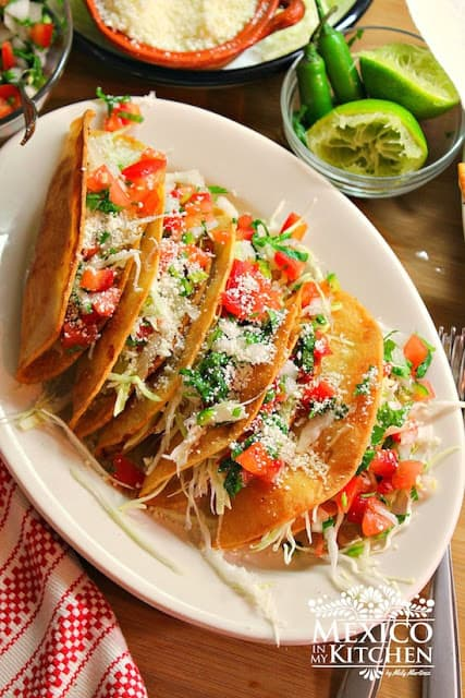 Crispy Potato Tacos with Pico de Gallo Salsa | Mexican Recipes