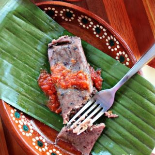 Black Beans and Pork Cracklings Tamales