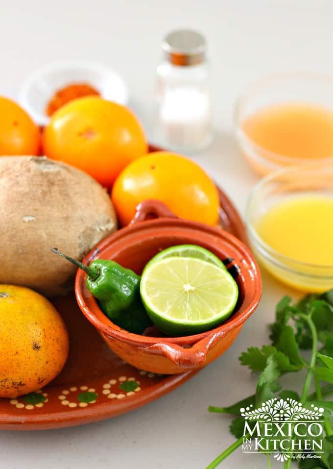 Xec citrus salad Yucatan