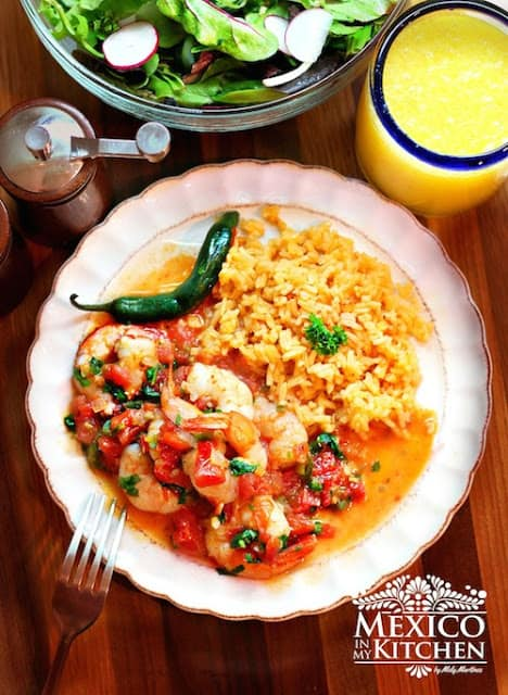 Shrimp Mexican Style | step by step instructions with photos of the process