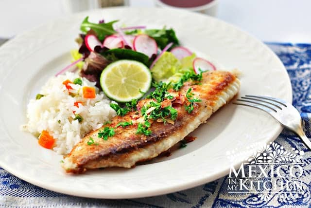 Mexican Fish Fillets, filete de pescado, quick and easy