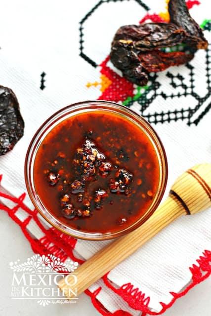 Chile Morita Salsa with Oil recipe | Mexican Recipes