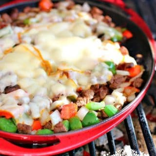 Tacos de Alambre: beef, bacon, cheese and…peppers!