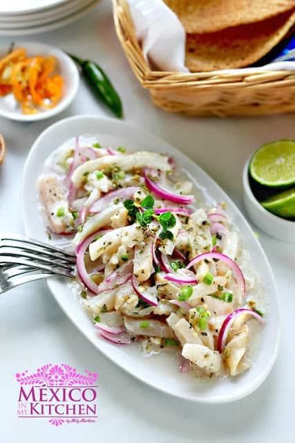 Tiritas de pescado Zihuatanejo recipe | Authentic Mexican Food Recipes