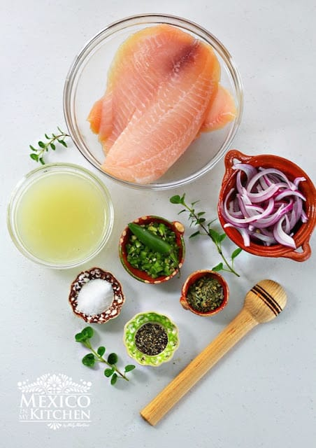 Tiritas de pescado Zihuatanejo recipe | ingredients