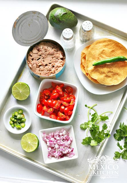 Canned Tuna Ceviche Tostadas | Ingredients