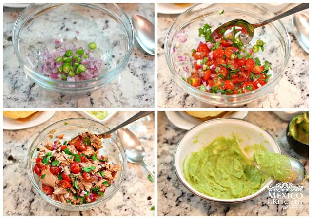 Canned Tuna Ceviche Tostadas | step by step instructions
