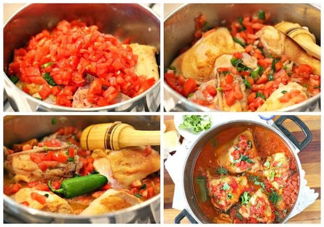 Braised Chicken with Tomatoes | step by step. quick and easy