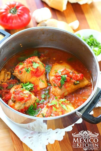 Braised Chicken With Tomatoes Pollo Entomatado Sencillo